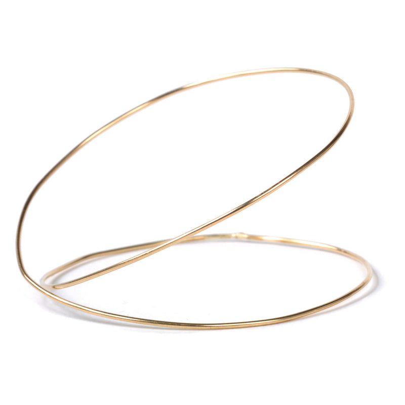 Double Spiral URS Gold Bangle - Bangle Chorthip