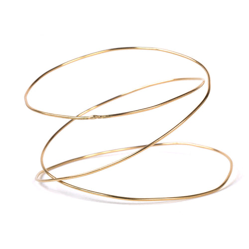 Triple Spiral Wave Bangle -  Chorthip