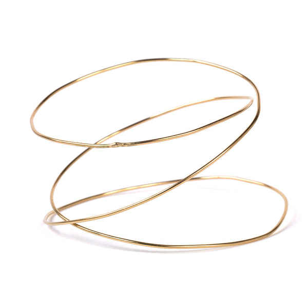 Triple Spiral URS Gold Bangle - Bangle Chorthip