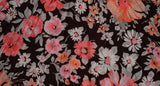 1970's vintage pleated floral mini dress 'XS'