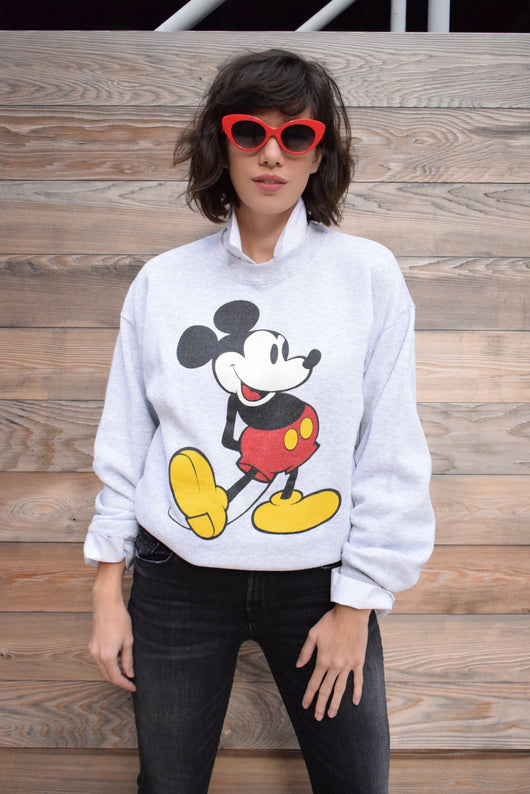 1980's vintage Disney original Mickey Mouse grey sweatshirt 'L'