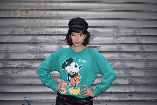 1970's vintage Velva Sheen Mickey Mouse Florida sweatshirt 'L'