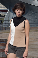 1960's dead stock color block top 'M'
