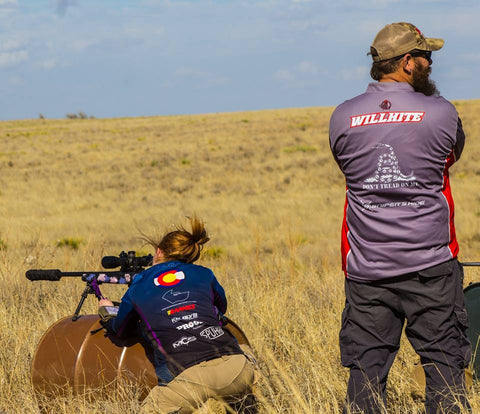 Colorado competition shooter aiming at target