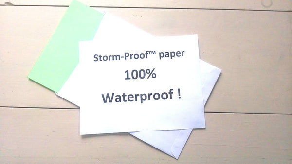 Storm-Proof Synthetic paper