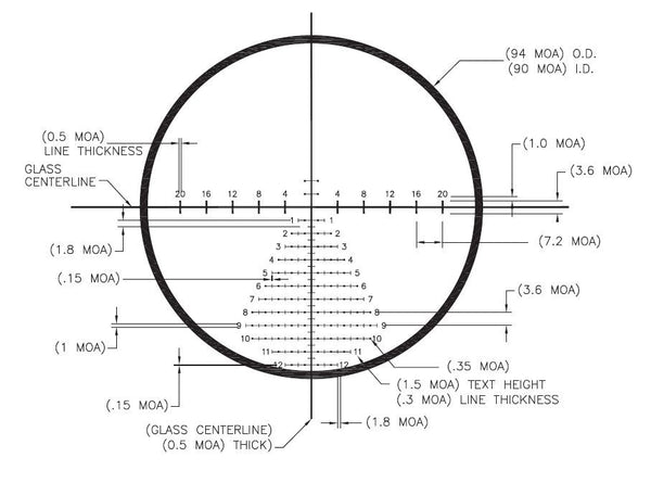 US Optics SR-8CH50 Horus H50 Reticle