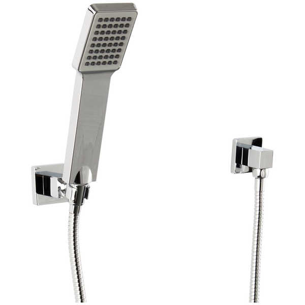Borhn Hand Shower Kit with Flexible Hose Square Holder and Square Outlet Chrome B51316