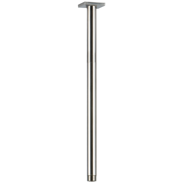 "Borhn 14"" Ceiling Mount Round Shower Arm with Square Escutcheon Brushed Nickel B51335"