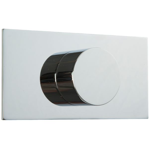 Borhn Chrome Volume Control Trim Kit, Round Handle with Letterbox Escutcheon B51423