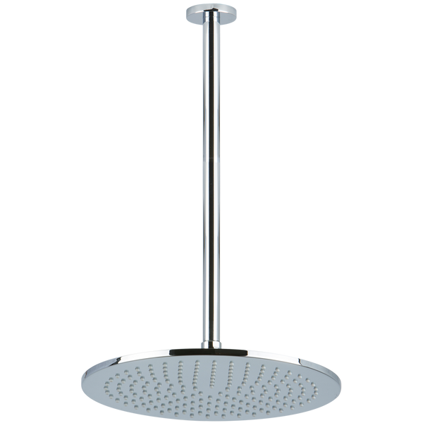 "Borhn 12"" Round Chrome Shower Rain Head, 14"" Round Ceiling Mount Arm with Round Escutcheon B51443"