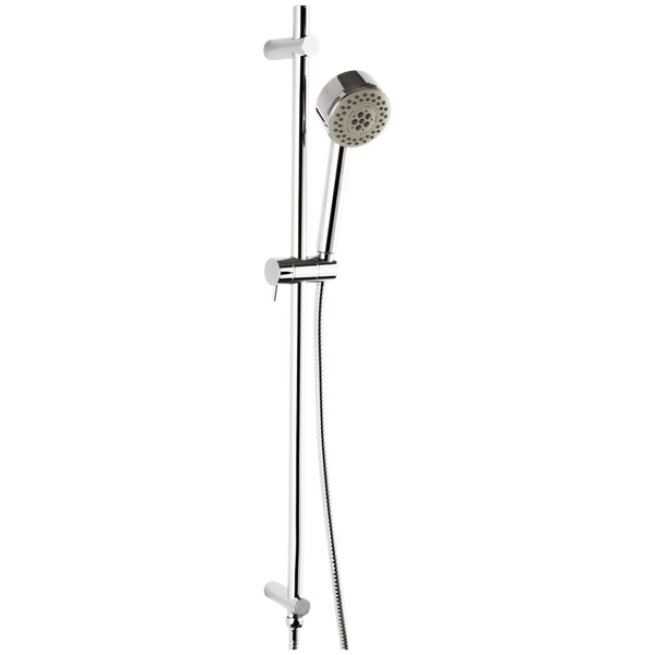 Borhn Five Function Hand Shower with Flexible Hose with Round Adjustable Slide Bar Chrome B51472