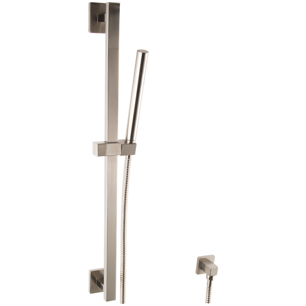 Borhn Microphone Hand Shower Kit with Square Slide Bar, Separate Water Outlet Brushed Nickel B51491