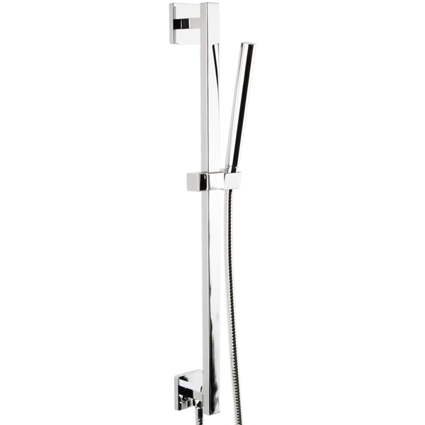 Borhn Round Hand Shower Kit with Slide Bar and Integrated Water Outlet Chrome B51496