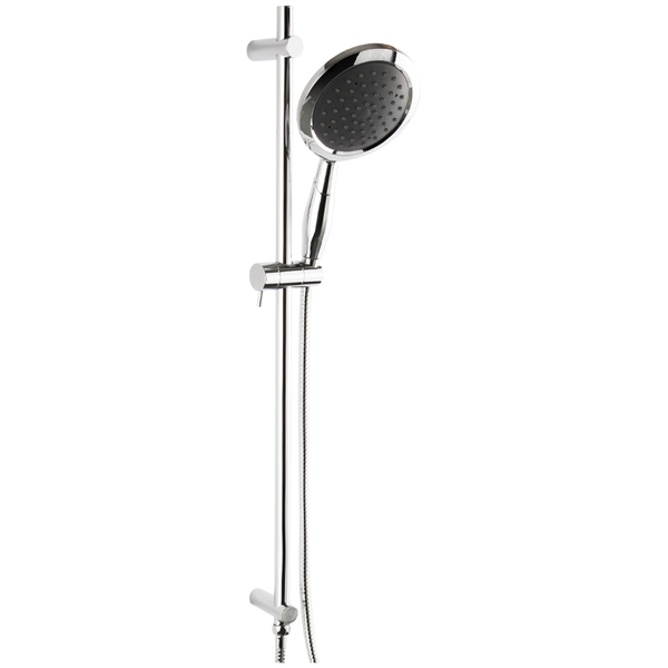 Borhn Round Hand Shower Kit with Slide Bar and Integrated Water Outlet Chrome B51502