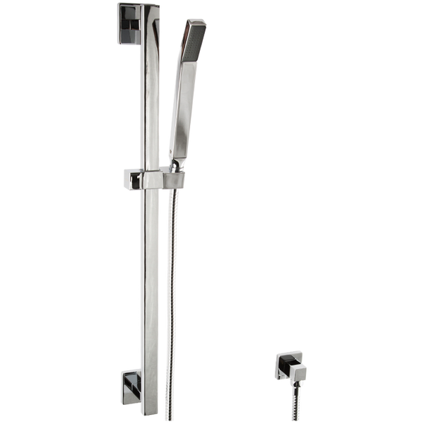Borhn Casella Hand Shower Kit with Slide Bar and Seperate Water Outlet Chrome B51504
