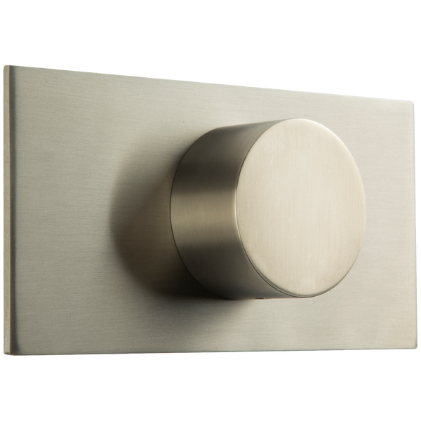 Borhn Brushed Nickel 3-Way Diverter Trim Kit, Round Handle with Letterbox Escutcheon B51541