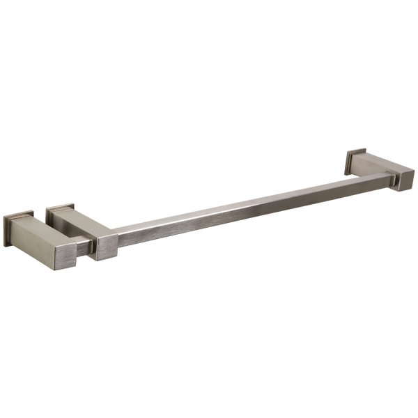 "Borhn Gazolla 18"" Square Double Post Towel Bar with Square Escutcheons Brushed Nickel B51565"