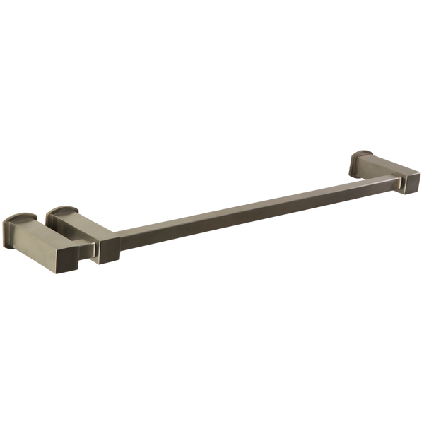 Borhn Rimini Brushed Nickel Double Post Towel Bar Square B51575