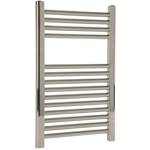 "Borhn Napoli Brushed Nickel Hydronic Wall Mount Towel Warmer 27""x 18"" B51579"