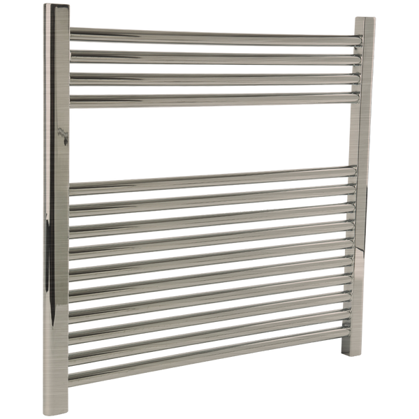 "Borhn Napoli Brushed Nickel Hardwired Wall Mount Towel Warmer 27""x 30"" B51619"