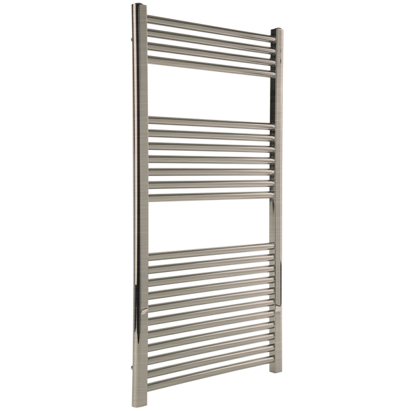 "Borhn Napoli Brushed Nickel Hydronic Wall Mount Towel Warmer 44""x 24"" B51639"