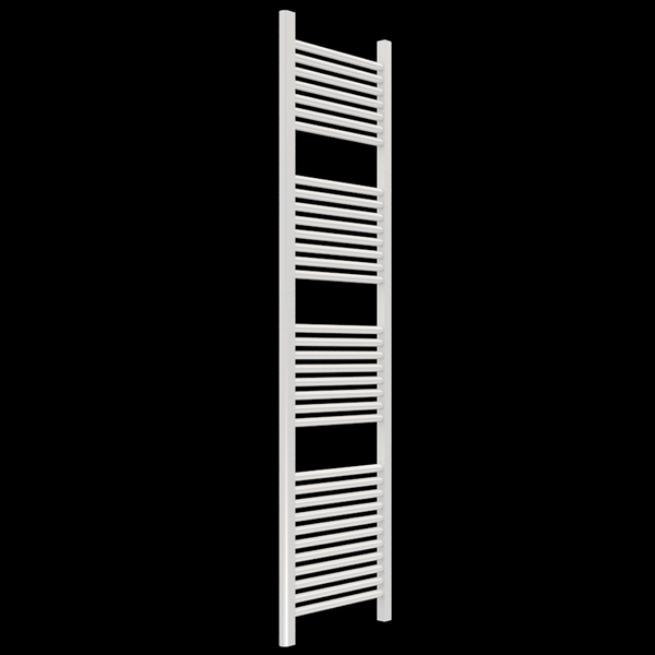 "Borhn Napoli White Hydronic Wall Mount Towel Warmer 68""x 18"" B51673"