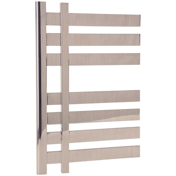 "Borhn Meleti Brushed Nickel Plug In Wall Mount Towel Warmer 27""x 20"" B51804"