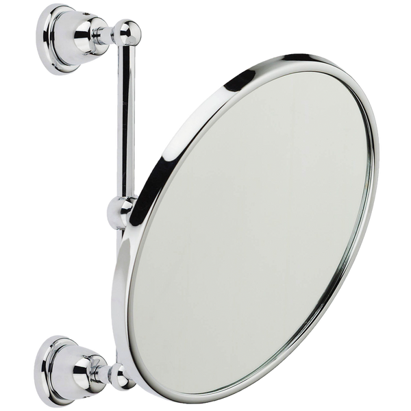 Borhn Caltrano Round Chrome Adjustable Enlarging Mirror B51962