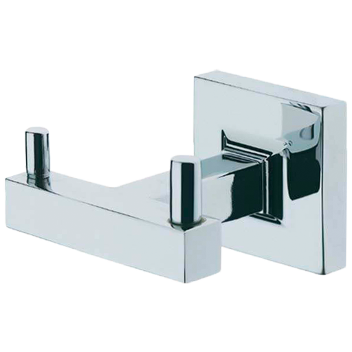 Borhn Forano Chrome Wall Mount Bathroom Double Robe Hook B51970