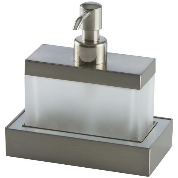 Borhn Forano Brushed Nickel Free-Standing Bathroom Soap Dispenser B52037