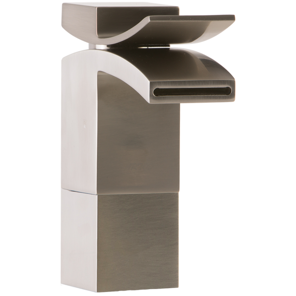 Borhn Forano Medium Vessel Bathroom Faucet, Front Flow, Lever Handle Brushed Nickel B52105