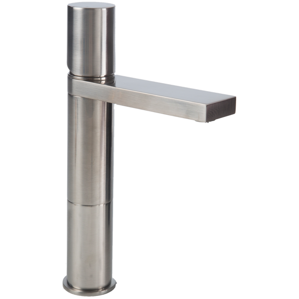 Borhn Ortona Single Hole Bathroom Medium Vessel Faucet Brushed Nickel B52168