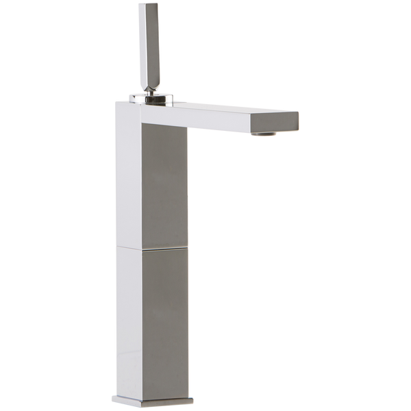 Borhn Casella Single Hole High Vessel Bathroom Faucet with Joystick Control Chrome B52193