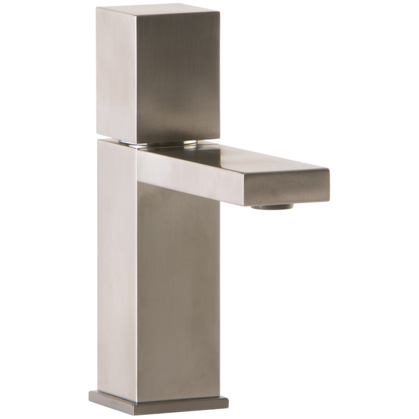 Borhn Casella Single Hole Bathroom Faucet with Cube Control Brushed Nickel B52194