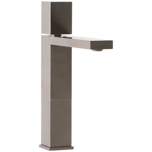 Borhn Casella Single Hole Vessel Bathroom Faucet with Cube Control Brushed Nickel B52196