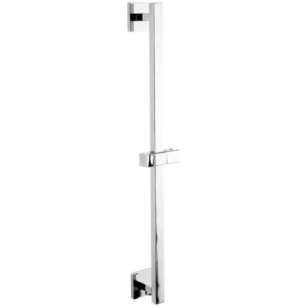 Borhn Chrome Square Adjustable Slide Bar with Integrated Water Outlet B52336
