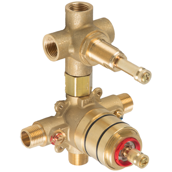 Borhn Solid Brass Pressure Balance Mixer with 3-Way Diverter B52427