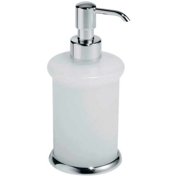 Borhn Lupara Chrome and Glass Free Standing Soap Dispenser B52605