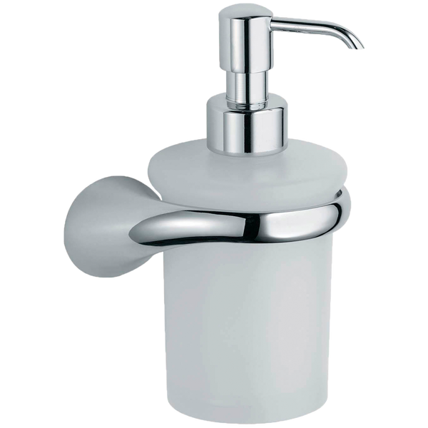 Borhn Lupara Chrome and Glass Wall Mount Soap Dispenser B52610