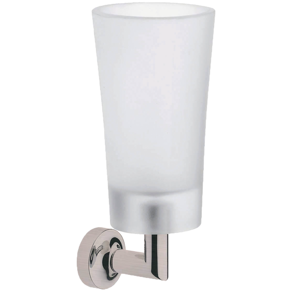 Borhn Serezzo Brushed Nickel and Frosted Glass Wall Mount Tumbler B52738