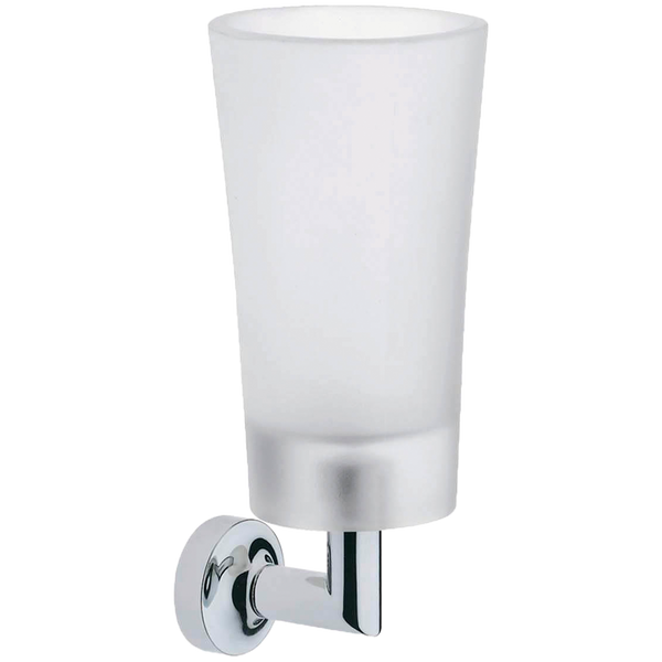 Borhn Serezzo Chrome and Frosted Glass Wall Mount Tumbler B52739