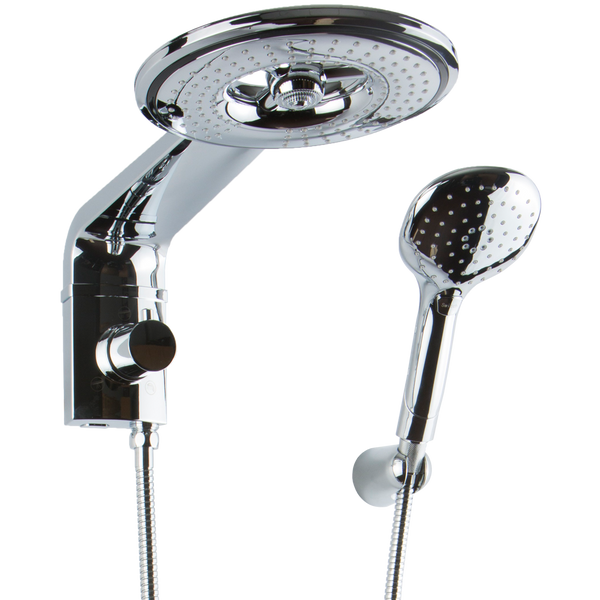 Brohn Tribano Chrome Multifunction Shower Head with Hand Shower B52869