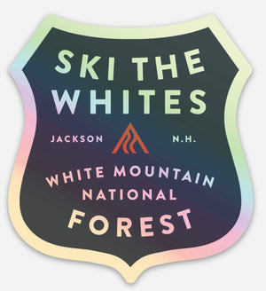 Ski The Whites Stickers Shiney Badge