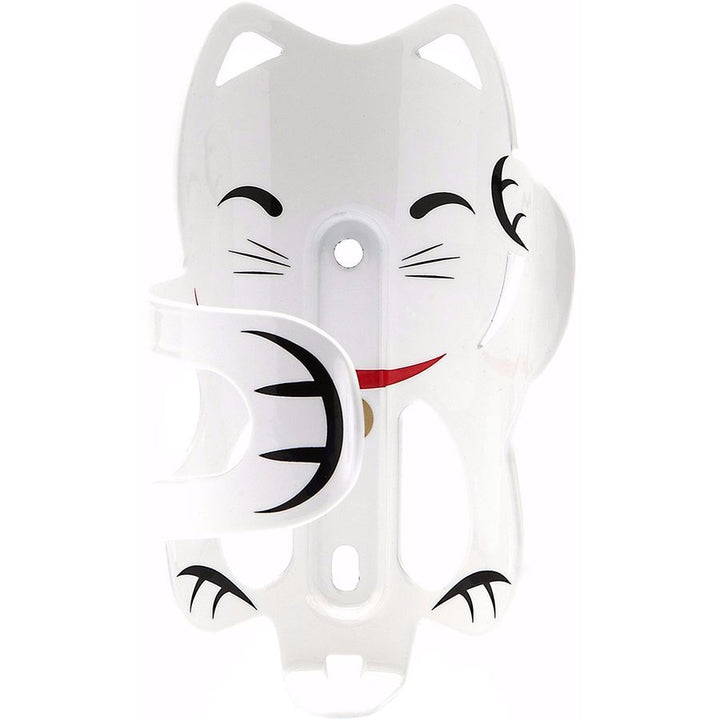 Lucky Cat Water Bottle Cage (white)