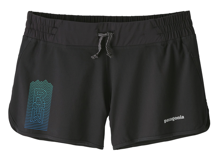 Run The Whites Women's Patagonia Nine Trails Shorts (Black)