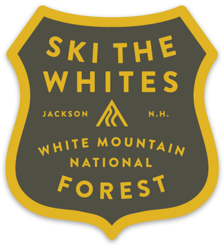 Ski The Whites Stickers Badge