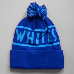 Ski The Whites Blue Pom Pom Hat