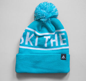 Ski The Whites Turquoise Pom Pom Hat