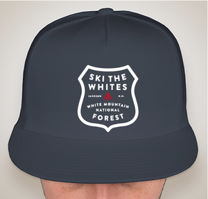 Ski The Whites Badge Hat