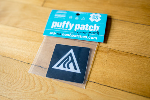 Ski The Whites Nylon Puffy Patch 2x2 Mountain Logo